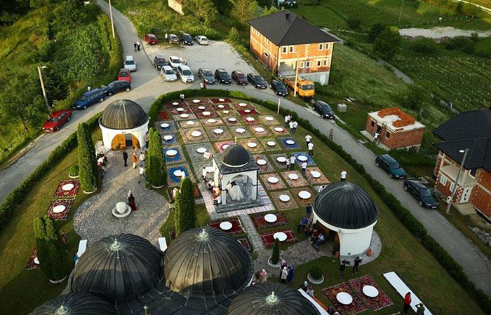 Iftar dinner at Bosnia's Varoska Rijeka village